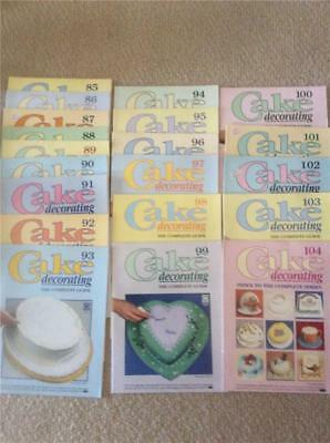 DEAGOSTINI-Cake Decorating The Complete Course Guide MAGAZINES BULK LOT 85- 104