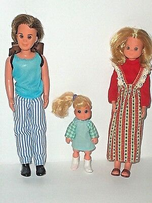 Vintage 1973 Mattel SUNSHINE Family Mom / Mother,Father,VERY RARE; Little Sister