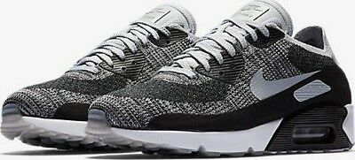 NIKE AIR MAX 90 ULTRA 2.0 FLYKNIT BLACK WOLF GREY PLATINUM