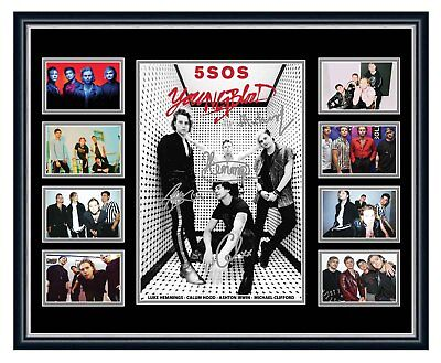 5 Sos Seconds Of Summer Youngblood 2018 Signed  Photo L/E Framed Memorabilia