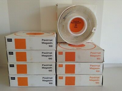 Braun Paximat 35Mm X 100 Slide Carousel Magazines - 8 With Plastic Covers Boxed.