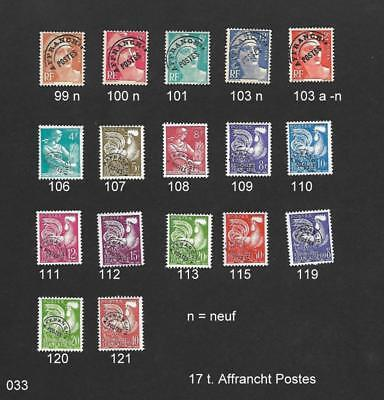 France  - affranchist. poste - 30 timbres