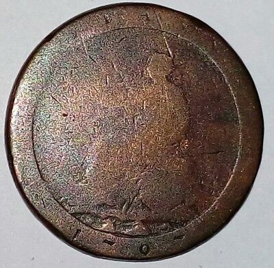 English 1797 Colonial King George 3rd Cartwheel Penny well stuck Coin