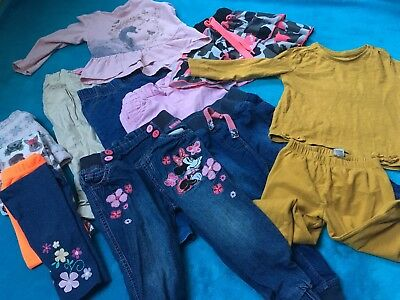 Baby Girl Leggings Trousers Top Set Bundle Age 18-24 Months 🌸