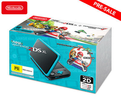 Nintendo New 2DS XL Handheld Console - Black/Turquoise