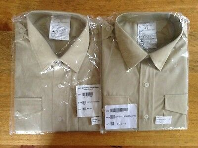 Men's Clothing Militaria Genuine British Army All Ranks No2 Dress Shirt Or Blouse Fawn Womans New