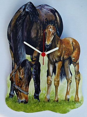 Mare and Foal Clock - MB11