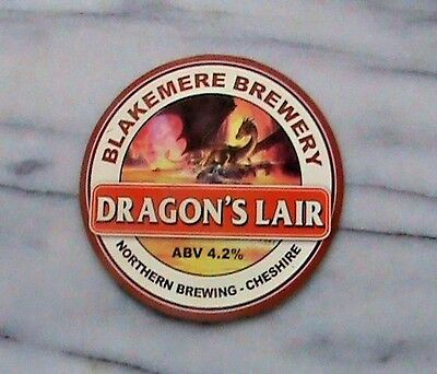 Northern Blakemere Dragon's Lair real ale beer pump clip sign
