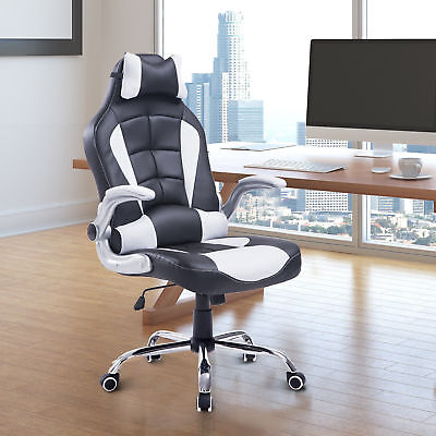 HOMCOM Racing Office Chair PU Leather Swivel Adjustable Reclining Seat