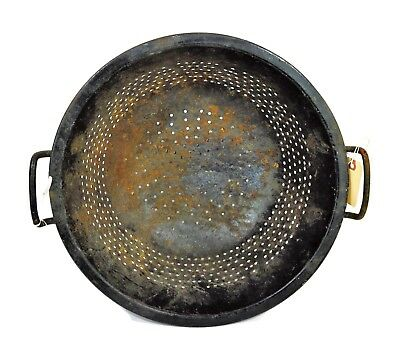 Antique Strainer Cast Iron Over 100 Years Old 16 1/2 Inches In Diameter