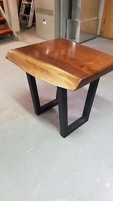 Superb Live Edge Black Walnut End Table Reclaimed Hand Crafted Furniture Must See Download Free Architecture Designs Sospemadebymaigaardcom