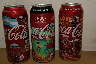 3 Coca Cola Cans Youth Olympic Games. Buenos Aires. Argentina. 2018