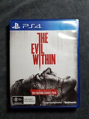 Playstation 4 : The Evil Within  PS4 Game LIKE NEW