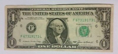 USA American $1 Dollar Bill/Note 1985 Series / VERY GOOD CONDITION