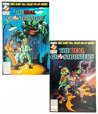 The Real Ghostbusters #1 & 2 (1988 Now Comics) Unread! NM