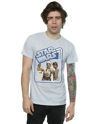 Star Wars Herren Luke Skywalker and C-3PO T-Shirt