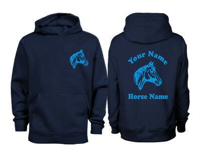 DRESSAGE JUMPING PERSONALISED SWEATER HORSE 5-15 H17 KIDS HORSE RIDING JUMPER