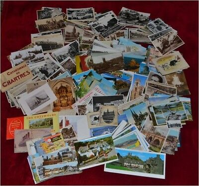 500+ Vintage Postcards Early 1900's - 1990's Posted & Unposted British & Foreign