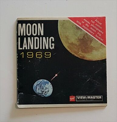 """moon Landing"" 1969 Gaf Viewmaster Set B 663 E-Stereo Photographs Of Mission"