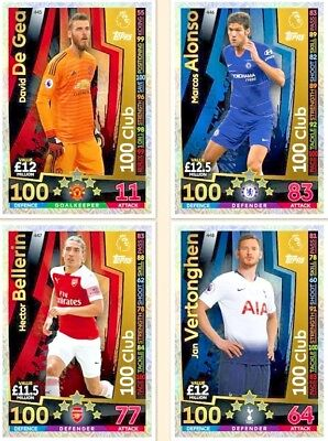 Match Attax 2018/19 18/19 100 Club  Limited Edition 2018 / 2019