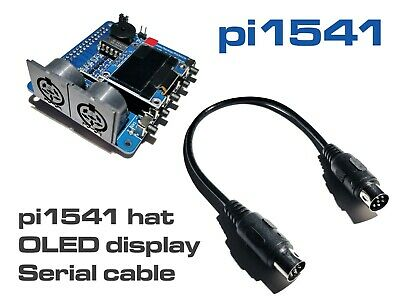 Pi1541 HAT + OLED DISPLAY + SERIAL CABLE - the SD2IEC successor for C64/128