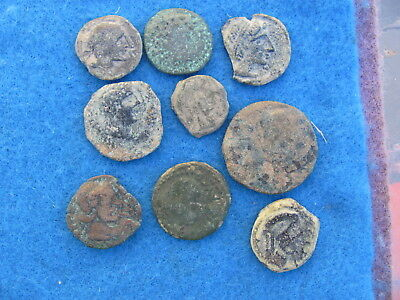 RARE Lot (9) Ancient Iberian Coins of  Spain 2nd to 1st cent.bc