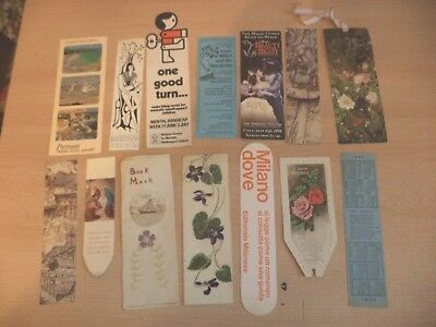 job lot f OLD VINTAGE ANTIQUE BOOKMARK BOOK MARKER ADVERTISING adverts hand made