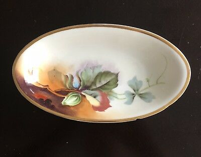 Heinrich & Co., H & Co Selb Bavaria Serving Dish Hand Painted Floral