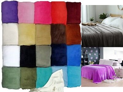 Sumptuous Light Winter Blanket Soft Throw 20 Solid Colors All Bed Sizes New!!!