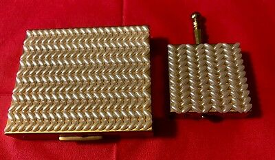 """Vintage S.F.Co 5th Avenue  3"""" powder compact with screen pearl with 2"""" pill case"""