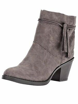 RAMPAGE Woman's NEW Tailback Dark Gray Pull On Suede Booties 6.5 Retail $79.99