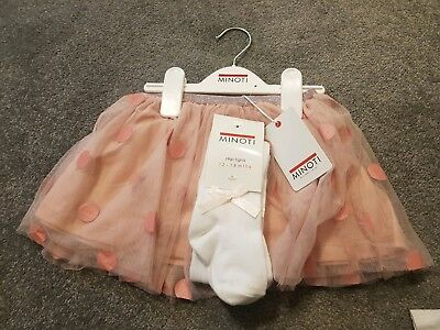 Girls Tutu And Tights Pink Spotted 12-18