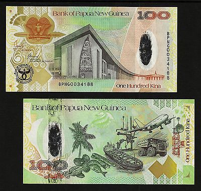 PAPUA NEW GUINEA 100 Kina  2008 (35th Anniversary) P-37a  UNCIRCULATED