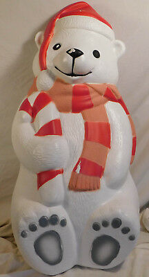 "Vintage Blow Mold 29"" Polar Bear Lighted TPI Coke Christmas Decoration Coca Cola"