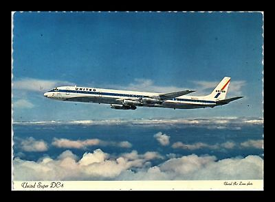 Dr Jim Stamps Us Super Dc 8 United Airlines Airplane Continental Size Postcard
