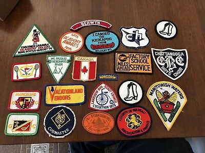 Lot Of Vintage Patches Girl Scouts Boy Canada Camping
