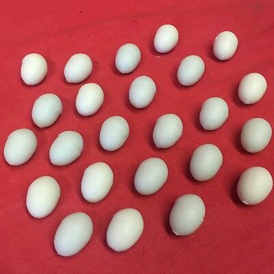 10 X Canary Dummy Egg Breeding Replacement Plastic Pale Blue Linnets Finches Comfortable And Easy To Wear Pet Supplies Other Bird Supplies