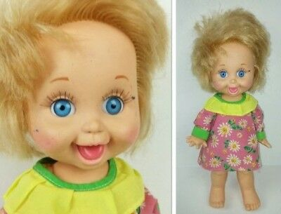 "Baby Face Playful Penny 13"" Doll Blonde Hair Blue Eyes LGTI 1990 Collectible"