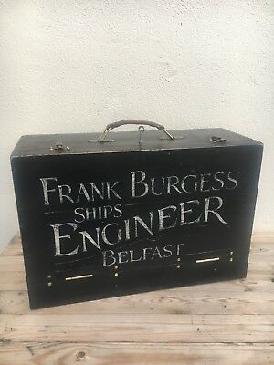 Vintage Collectable ~ 2 Drawer Ships Engineers / Toolmakers / Model / Tool Box