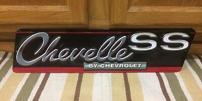 Chevelle SS Car Embossed Metal Rat Rod Coupe Man Cave Garage Emblem Chevrolet