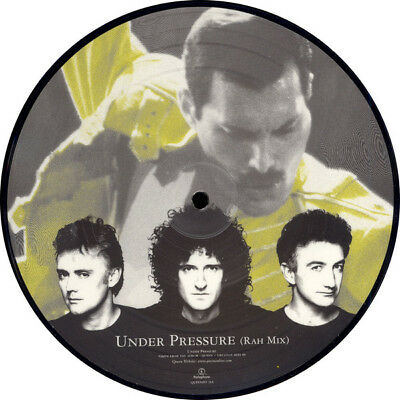 """Queen + David Bowie, Under Pressure, Ltd 7"""" Single Picture Disc, Uk 1999 (As New"""