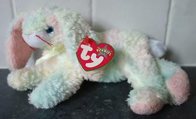 Ty Beanie Baby Cottonball - bunny with tag Retired DOB August 30th 2001  soft toy ba91e55e12ba