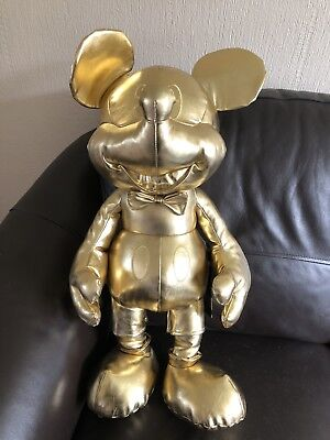 Mickey Mouse 90 Years Of Magic Large Gold Collection Plush BNWT