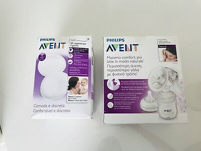 Second Hand Avent Philips Manual Breast Pump& comfortable and discreet Pad