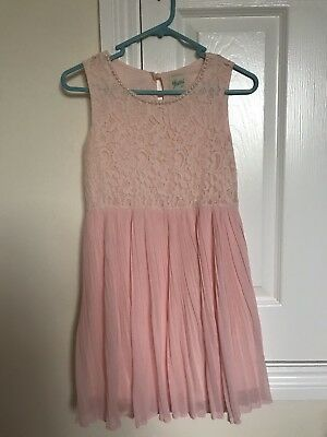 House Of Fraser Yumi Girls Nude Pink Dress Age 9-10