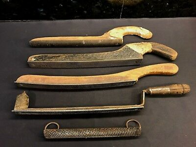 Lot of 5 Vintage Auto Body Lead Float Shapers Curved File Rasps