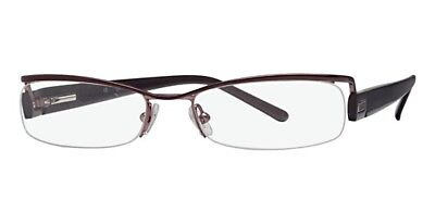 NEW Women's Guess GU1433 Glasses Frames Square Frameless Brown Metallic Small