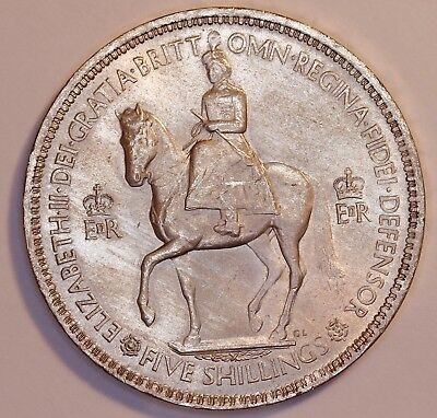 1953 Great Britain - 5 Shilling Coin - QE II  CROWN -           #231