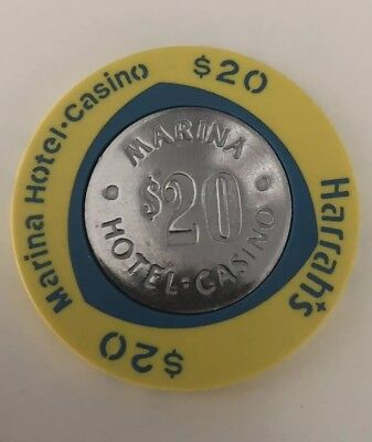 Atlantic City Harrahs $20.00 Casino Chip AC Harrah's