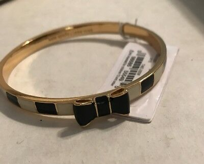 Kate Spade Take A Bow Bracelet Nwt Black Striped
